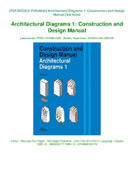 Design And Construction Manual Pdf Architectural Diagrams 1 Construction And Design Manual
