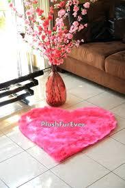 hot pink fur rug x hot pink heart shape faux fur rug by on hot pink faux fur rug