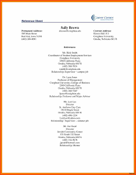 Resume Template With Current And Permanent Address Best Of Reference Sheet For Resume Template References Example Page Exles