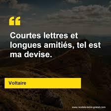 Courtes Lettres Et Longues Amitiés Tel Est Ma Devise