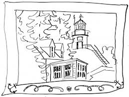 Small Picture Coloring Pages Sailboat And Lighthouse Coloring Page For Kids