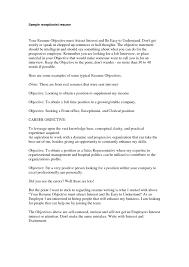 Receptionist Job Resume Objective Resume Profile Examples Receptionist Copy Receptionist Resumes 45
