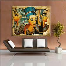 Living Room Canvas Paintings Aliexpresscom Buy 2017 Pharaoh Egypt Canvas Art Modern Abstract