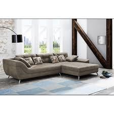 San Francisco Microfaser Braun Couchgarnitur Couch Sofa Wohnzimmercouch Ca 358 X 219 Cm