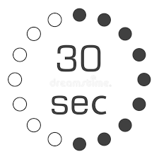 30 Sec 30 Seconds Clock Stock Illustration Illustration Of Concept