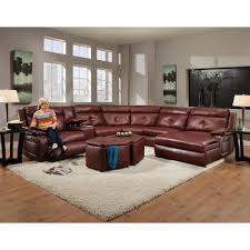 Southern Motion Dash Contemporary Styled Reclining Sectional Sofa