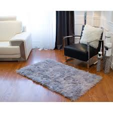 union rustic shawnta grey faux sheepskin area rug reviews wayfair ca throughout designs 3