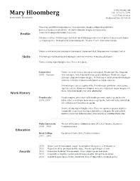 Basic Sample Resume Format Adorable Basic Sample Resume Format Simple Resume Examples For Jobs