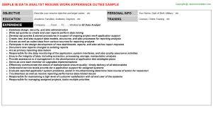 Data Analyst Job Duties Bi Data Analyst Job Resume Sample