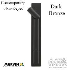 marvin contemporary non keyed handle ultimate sliding french door dark bronze