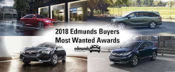 honda named 2018 edmunds ers most wanted awards