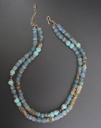 Designing Jewelry With Glass Beads African Recycled Glass Beads Labradorite Artisan Bronze