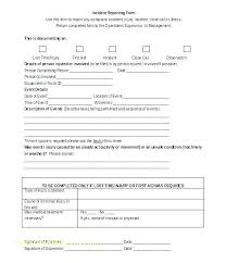 Sample Incident Report Form Emailers Co