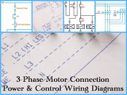 three phase motor power control wiring diagrams