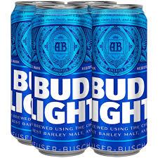 16 Ounce Bud Light Bud Light Beer 4 Pack 16 Fl Oz Cans Walmart Com