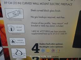 muskoka curved wall mount electric fireplace costco 5