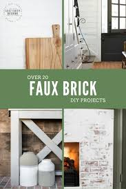 20 faux brick diy projects that are