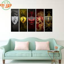 Small Picture Aliexpresscom Buy Contemporary Art Abstract Paintings 5 Panel