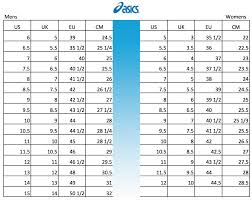 Asics Shoes Size Conversion Chart Soleracks