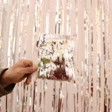silver metallic foil fringe shimmer door curtain for party decoration 3ft x 8ft