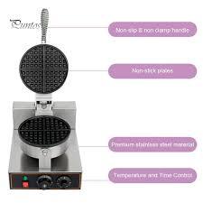 Puntos <b>1200W</b> Round Non Stick <b>Electric</b> Baking Pan <b>Waffle Maker</b> ...