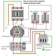 3 phase motor wiring diagram for controlling three phase motor contactor connection diagram at Contactor And Overload Wiring Diagram