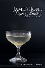 Martini Recipes Vodka James Bond Vesper Martini Recipe Food In Literature