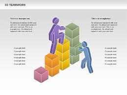 Teamwork Presentations 3d Teamwork Diagram For Powerpoint Presentations Download Now 00686