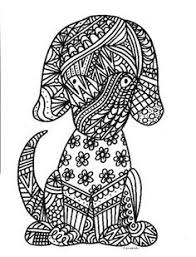 Small Picture Dog zentangle adult colouring page Adult ColouringCatsDogs