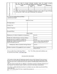 classic car insurance proposal form raipurnews