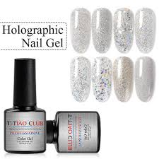 t tiao club mirror nail powder holographic glitter sequins dust for art diy manicure decorations