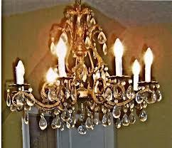 antique brass and crystal chandelier fish vintage inside prepare 15