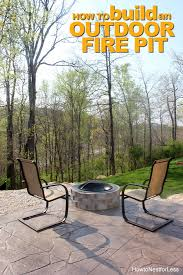 diy fire pit how to build a patio