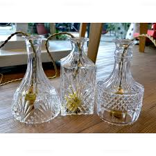 more views carved glass bell decanter pendant light