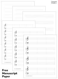Printable Music Staff Staff Paper Staff Paper Free Music Manuscript Paper Free Printable