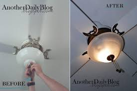 another daily blog krylon oil rubbed bronze ceiling fan make over pretty pretty