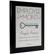 employee of month employee of the month plaque style 3