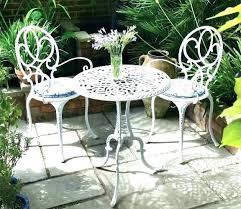 White Iron Patio Furniture White Cast Iron Patio Furniture
