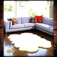 sheepskin rug faux medium size of area animal skin how big is a 4x6 f