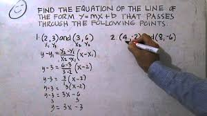write the equation of the line given two points
