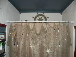 curtain best fishing net decor ideas on fish curtains old