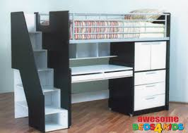 bunk beds kids desks. The Single Evan Loft Bunk Is Perfect All In One Solution For Your Kids Room Beds Desks U
