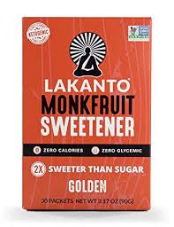 Lakanto Monkfruit Sweetener Packets, 1:1 Sugar ... - Amazon.com