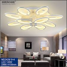 meerosee fancy bedroom flower lamp acrylic ceiling lamp led modern