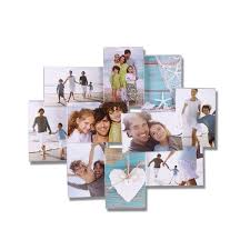 adeco decorative clear plastic wall hanging collage picture photo frame 10 opening