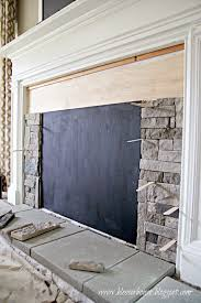 install airstone on a faux fireplace blesser house featured on remodelaholic