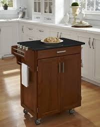 Movable Kitchen Island Brown