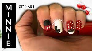 DIY Minnie & Mickey Mouse Nails I How to Cook Craft & Cake It - YouTube