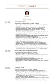 52 Awesome Nursery School Teacher Resume Sample – Template Free