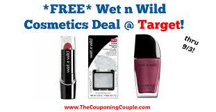 free wet n wild cosmetics deal target